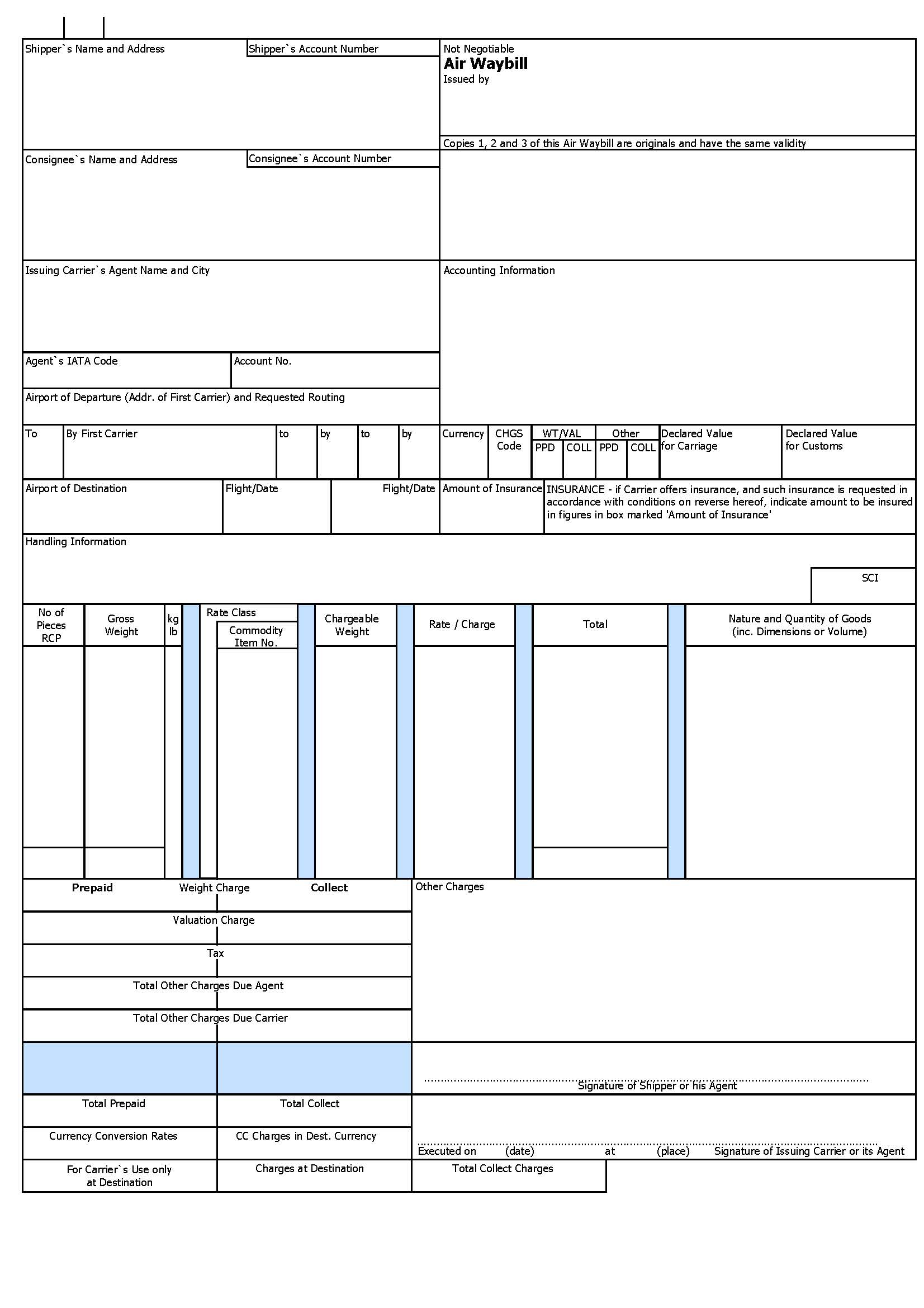 bill of purchase template
